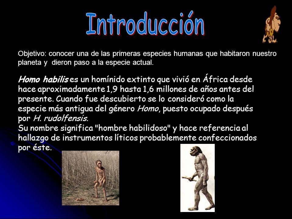 Introducción Objetivo: conocer una de las primeras especies humanas que habitaron nuestro planeta y dieron paso a la especie actual.