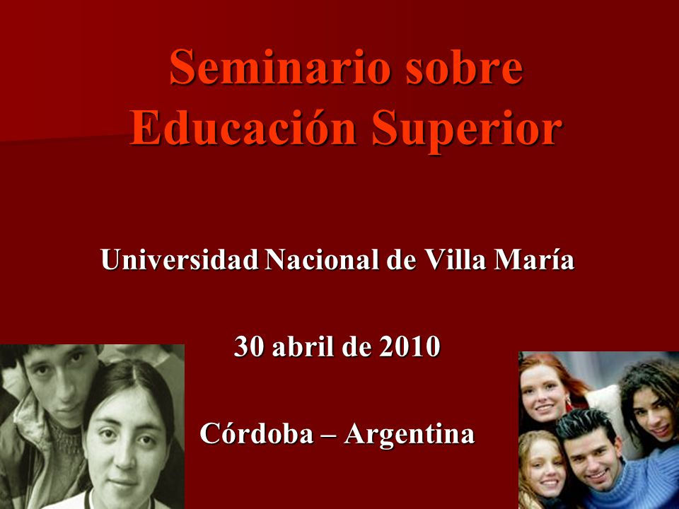 Seminario sobre Educación Superior