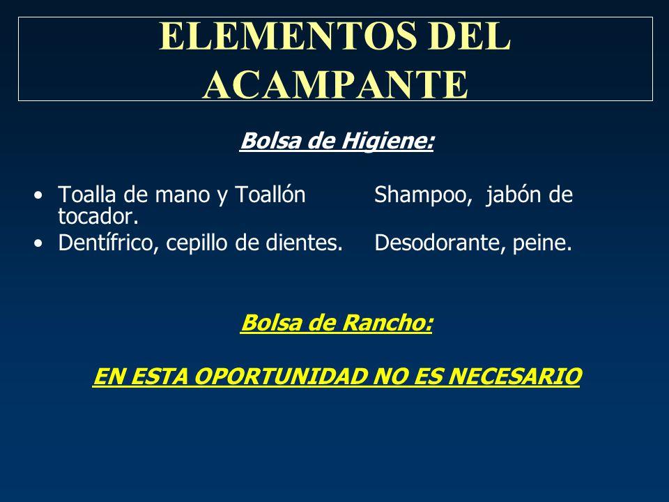ELEMENTOS DEL ACAMPANTE