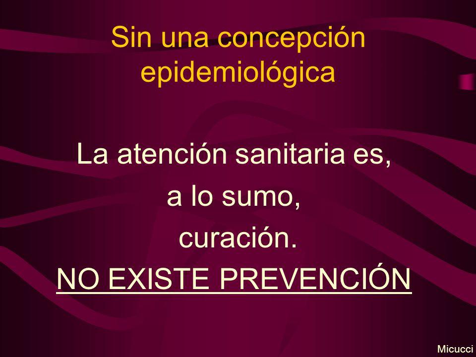 Sin una concepción epidemiológica