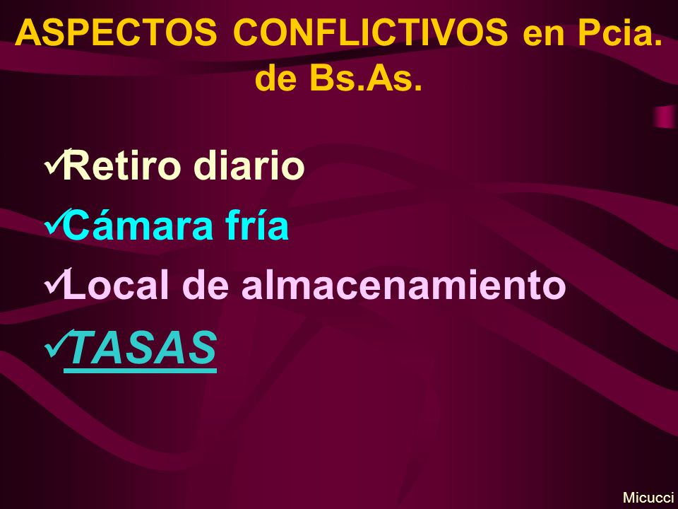 ASPECTOS CONFLICTIVOS en Pcia. de Bs.As.