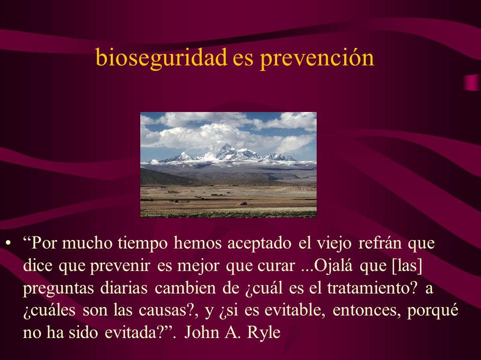 bioseguridad es prevención