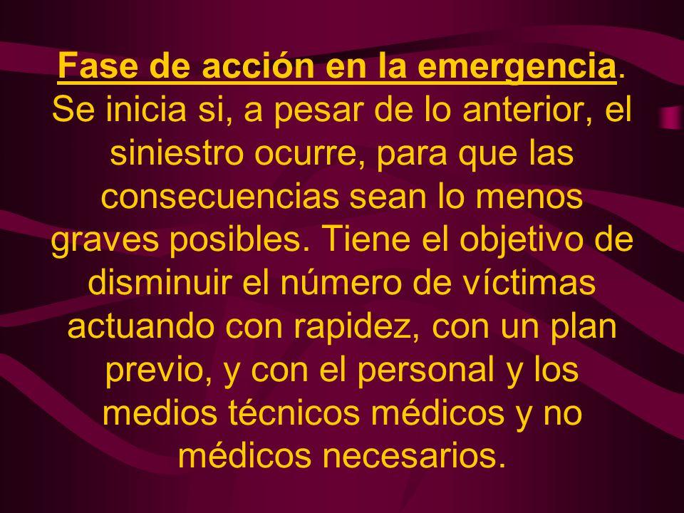 Fase de acción en la emergencia