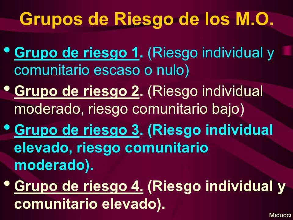 Grupos de Riesgo de los M.O.