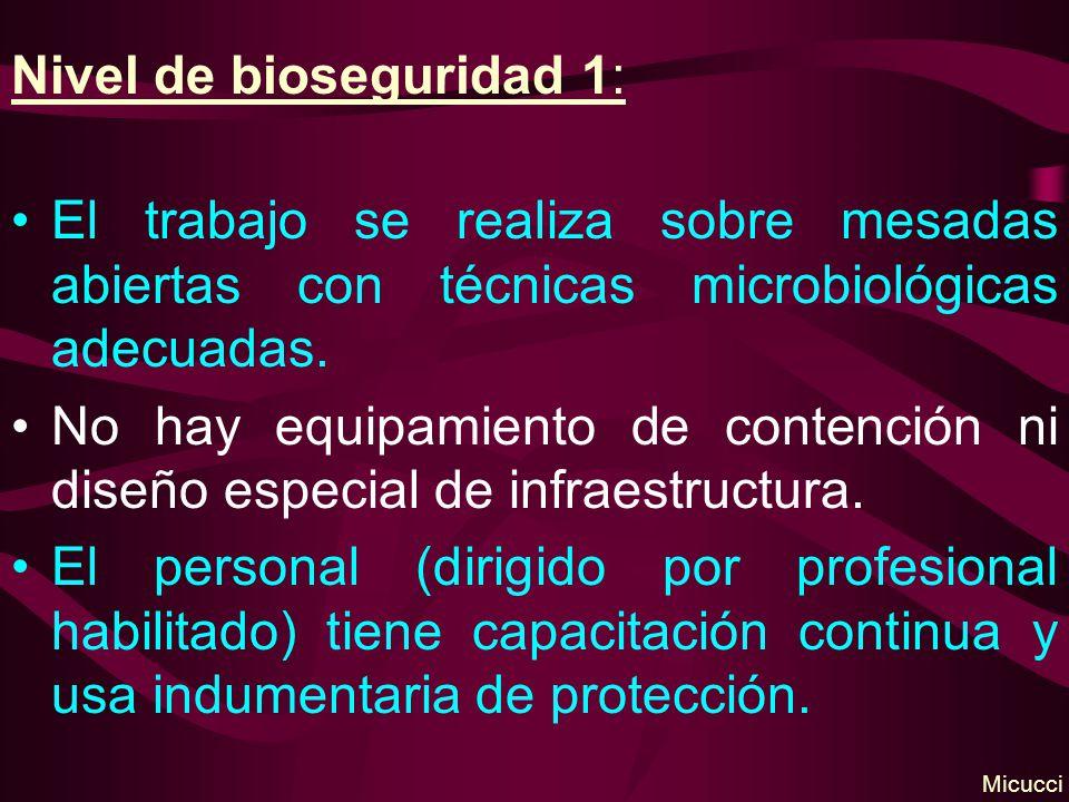 Nivel de bioseguridad 1: