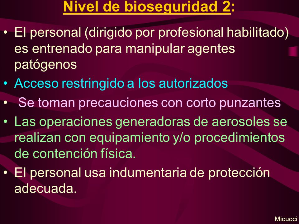 Nivel de bioseguridad 2: