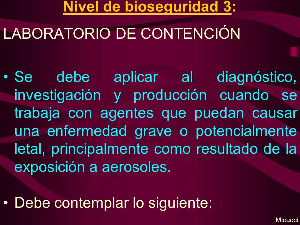 Nivel de bioseguridad 3: