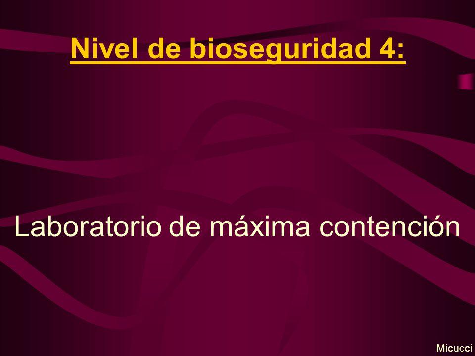 Nivel de bioseguridad 4: