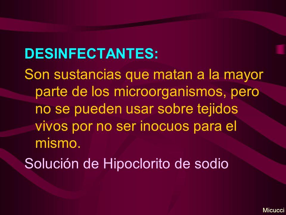 Solución de Hipoclorito de sodio