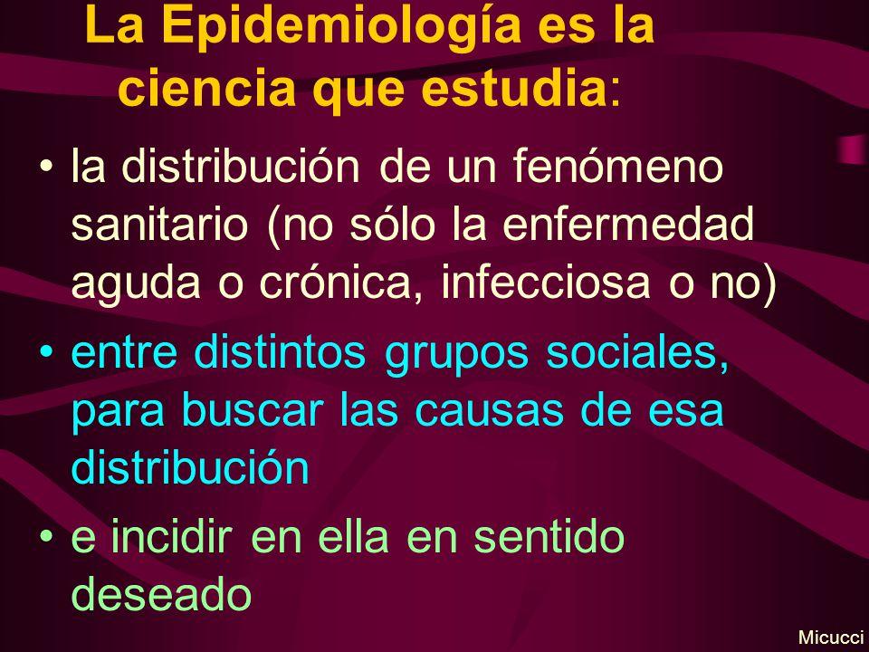 La Epidemiología es la ciencia que estudia: