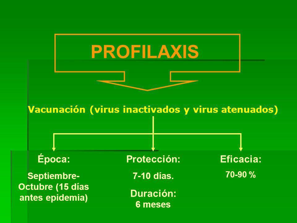 PROFILAXIS Época: Protección: Duración: 6 meses Eficacia: