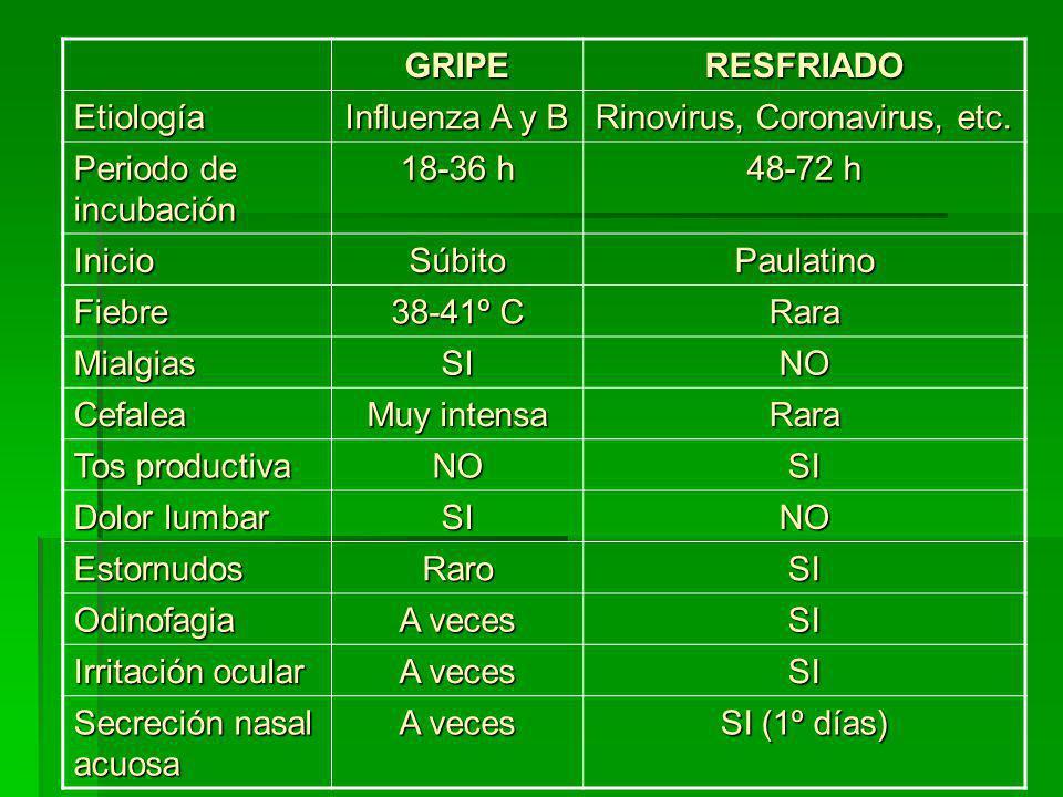 Rinovirus, Coronavirus, etc.