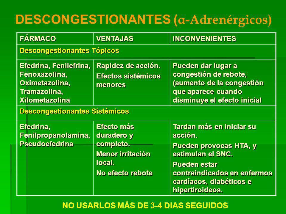 NO USARLOS MÁS DE 3-4 DIAS SEGUIDOS