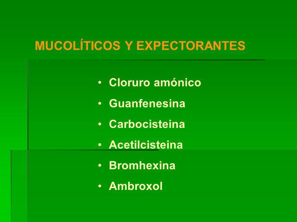 MUCOLÍTICOS Y EXPECTORANTES
