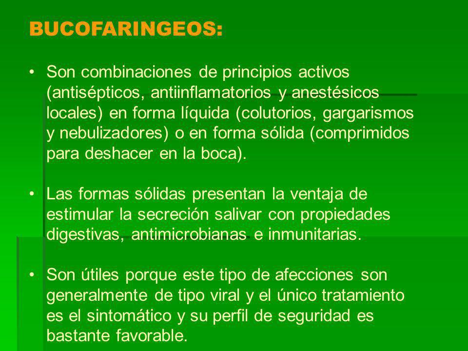 BUCOFARINGEOS: