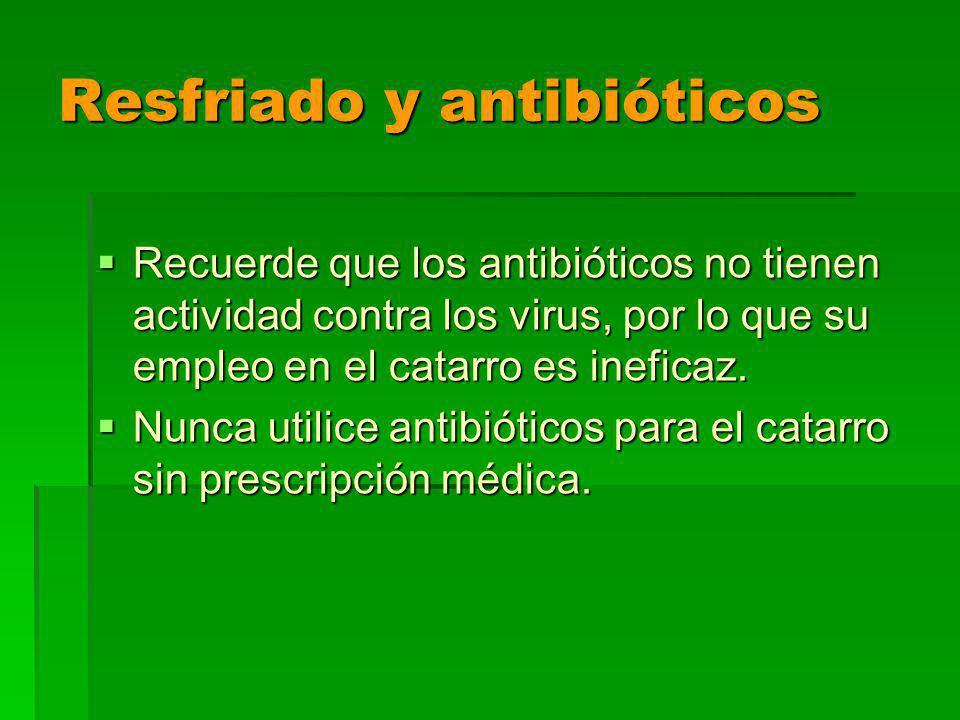 Resfriado y antibióticos