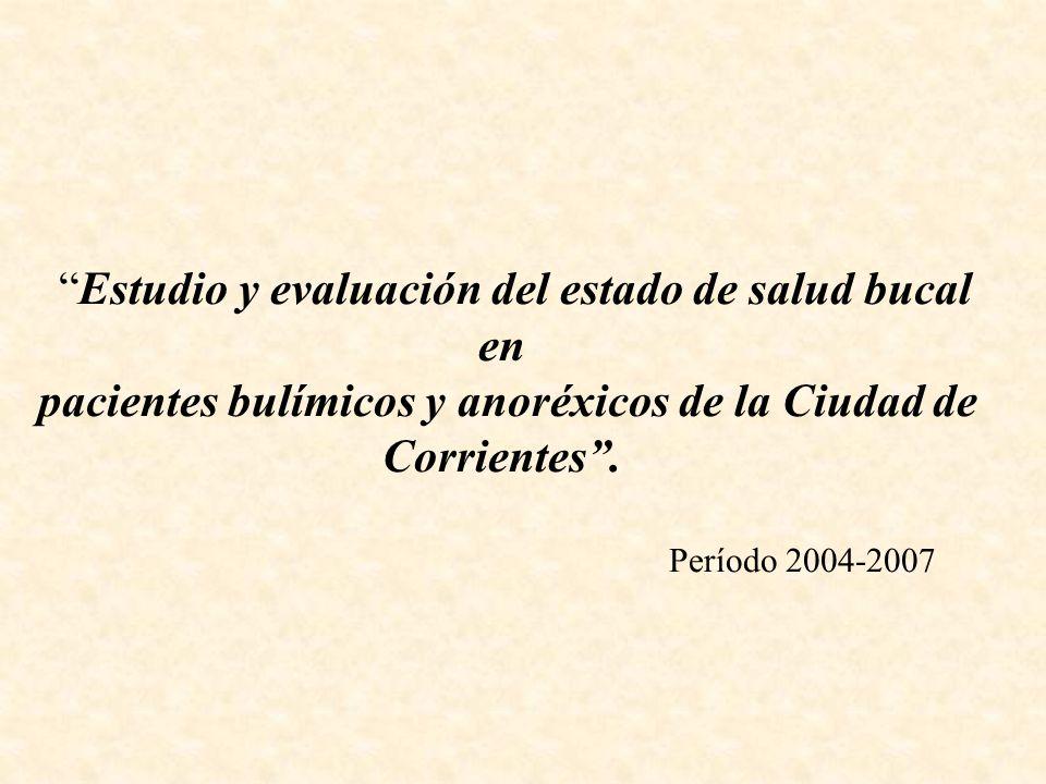 pacientes bulímicos y anoréxicos de la Ciudad de Corrientes .