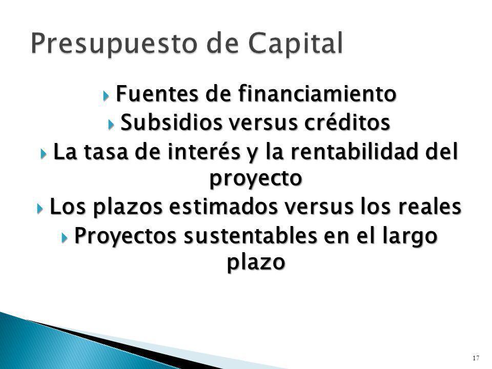 Presupuesto de Capital