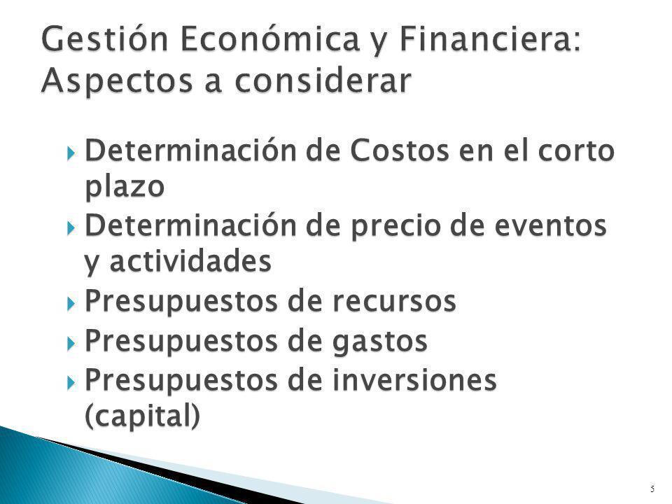 Gestión Económica y Financiera: Aspectos a considerar