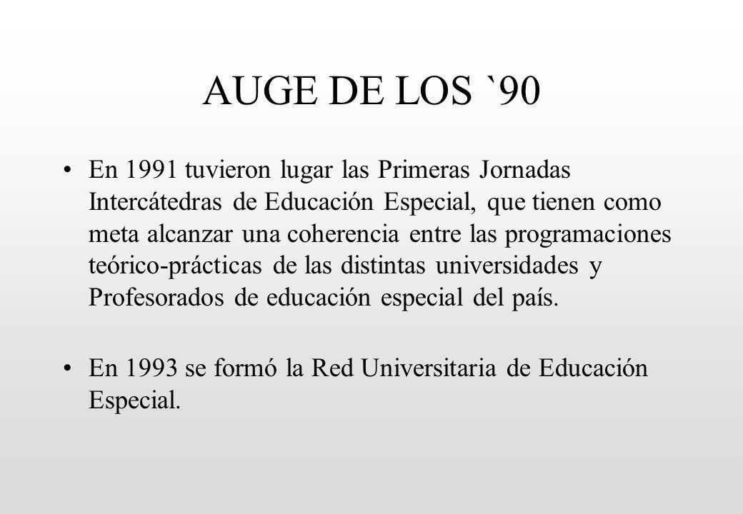 AUGE DE LOS `90