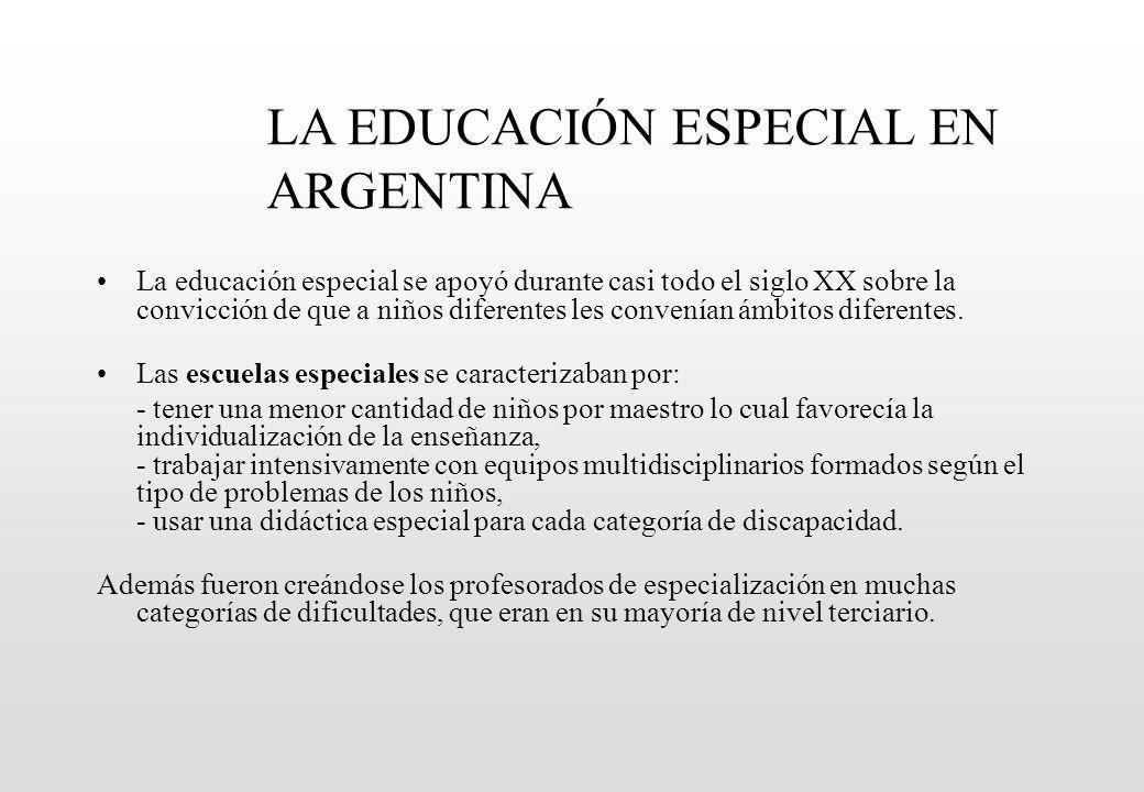 LA EDUCACIÓN ESPECIAL EN ARGENTINA