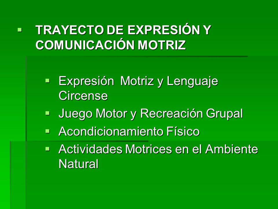 TRAYECTO DE EXPRESIÓN Y COMUNICACIÓN MOTRIZ