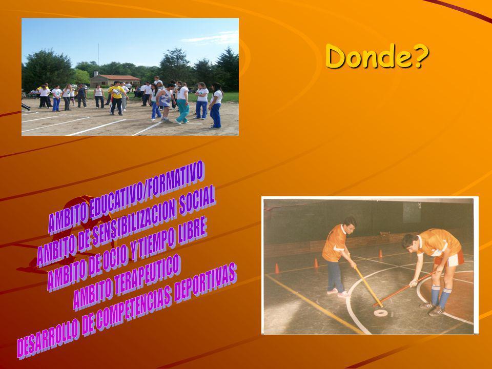 Donde AMBITO EDUCATIVO/FORMATIVO AMBITO DE SENSIBILIZACION SOCIAL