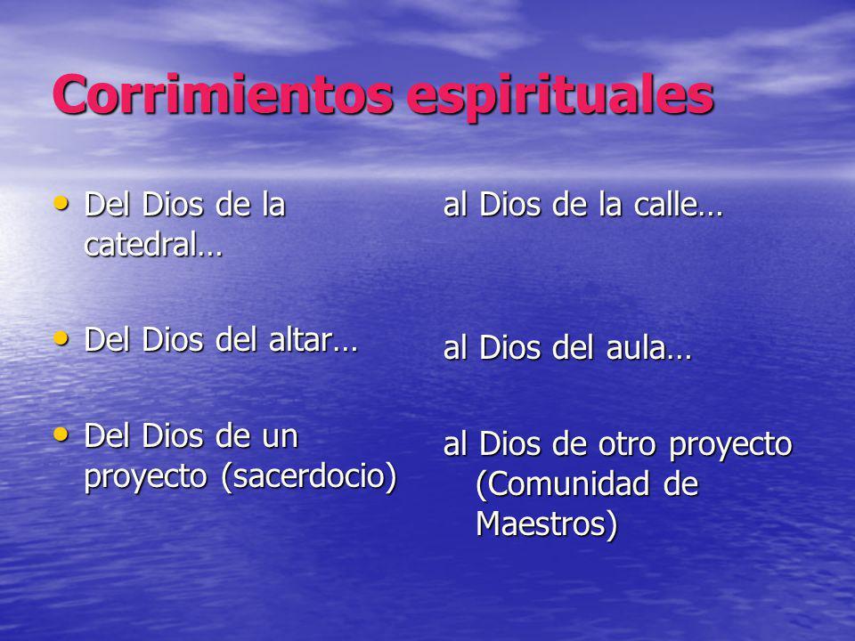 Corrimientos espirituales