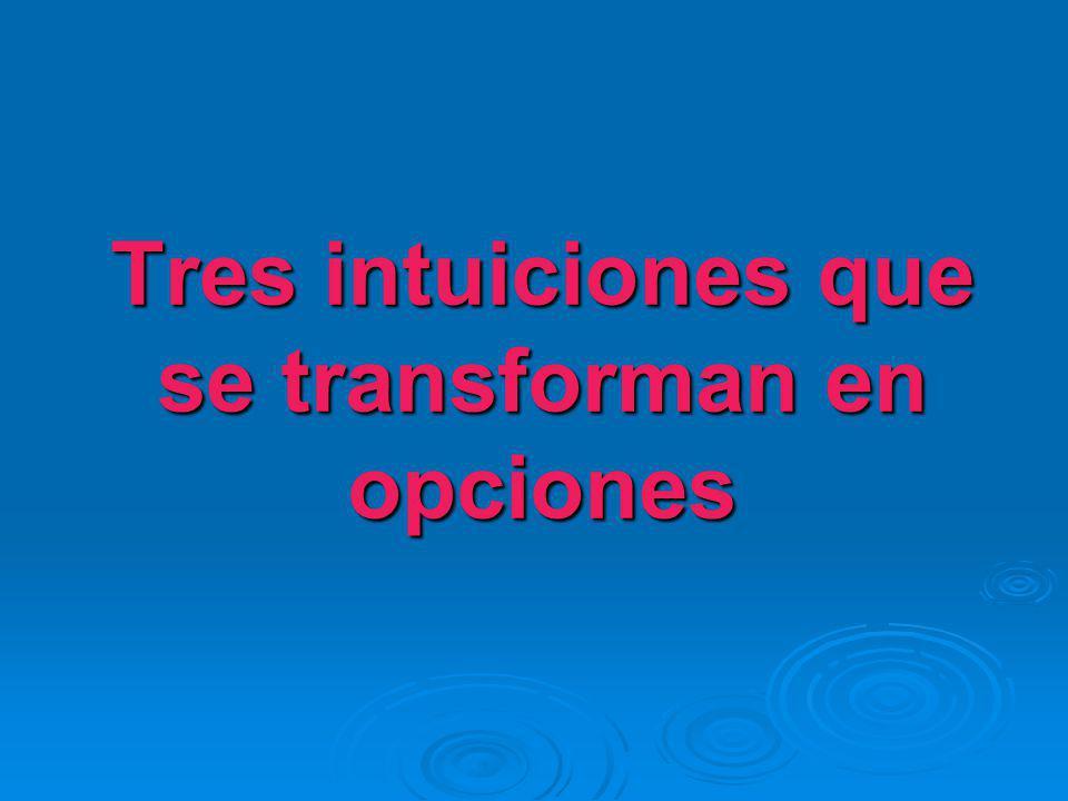 Tres intuiciones que se transforman en opciones