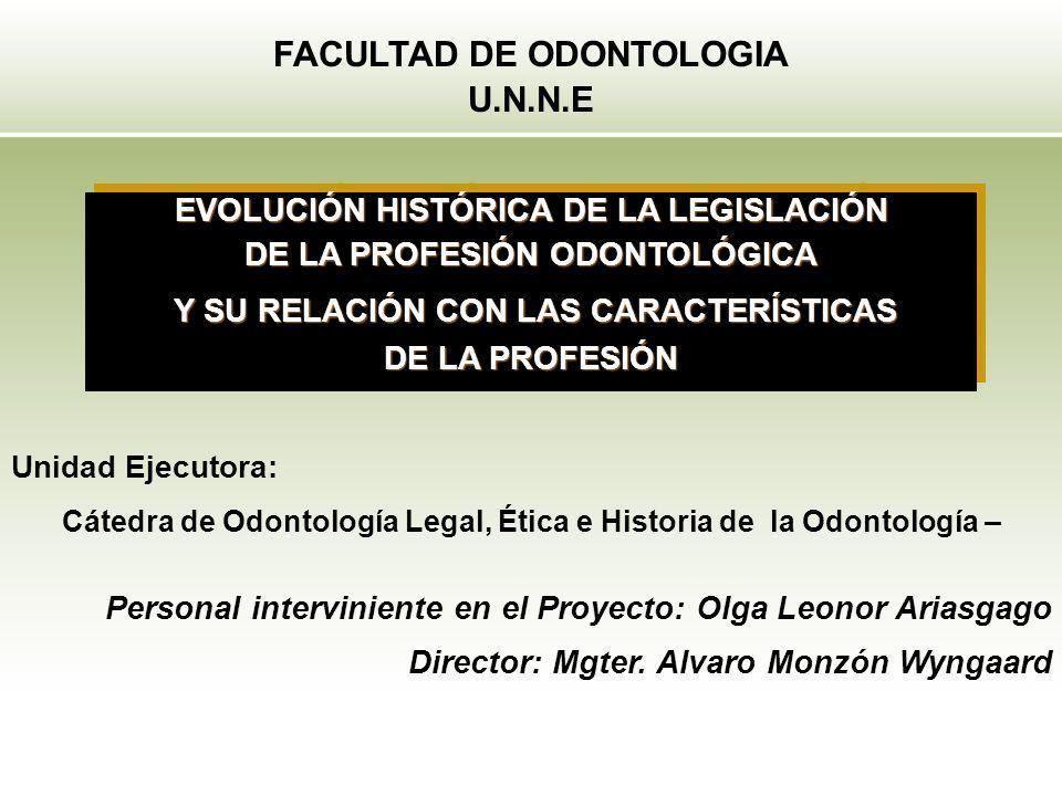 FACULTAD DE ODONTOLOGIA U.N.N.E