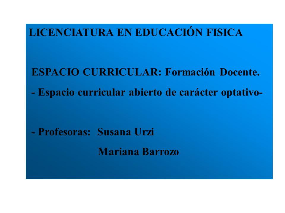 LICENCIATURA EN EDUCACIÓN FISICA