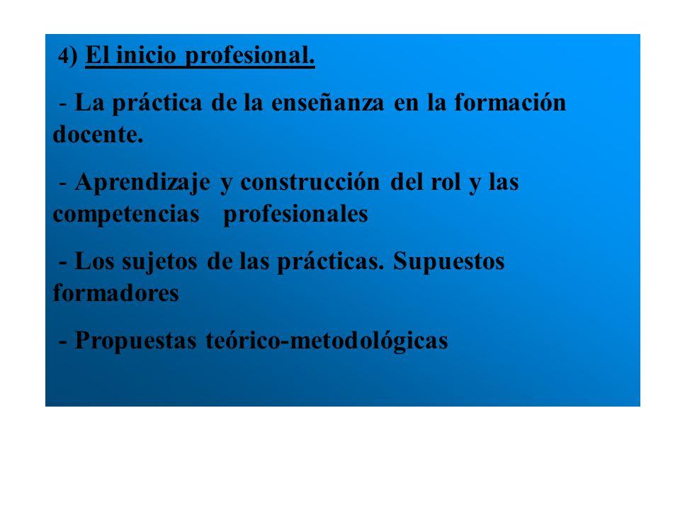 - La práctica de la enseñanza en la formación docente.