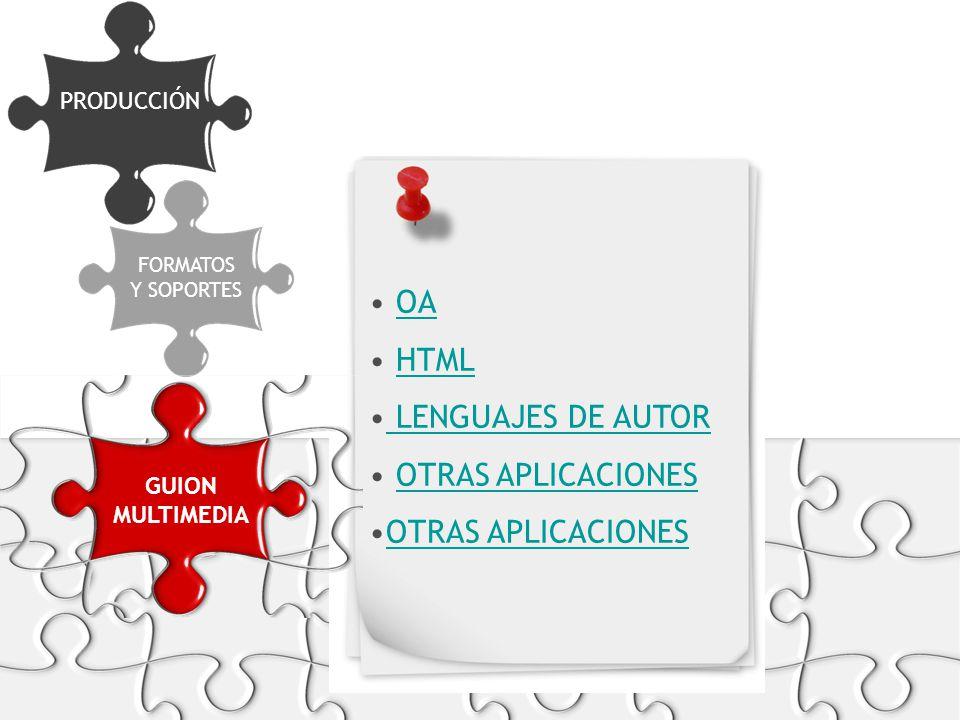 OA HTML LENGUAJES DE AUTOR OTRAS APLICACIONES PRODUCCIÓN