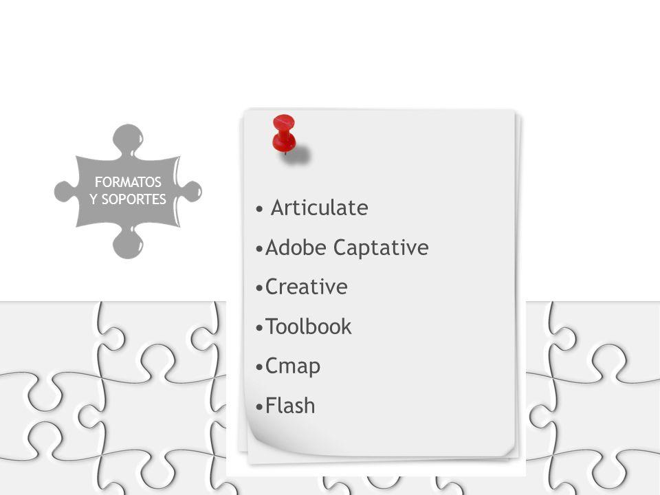 Articulate Adobe Captative Creative Toolbook Cmap Flash PRODUCCIÓN