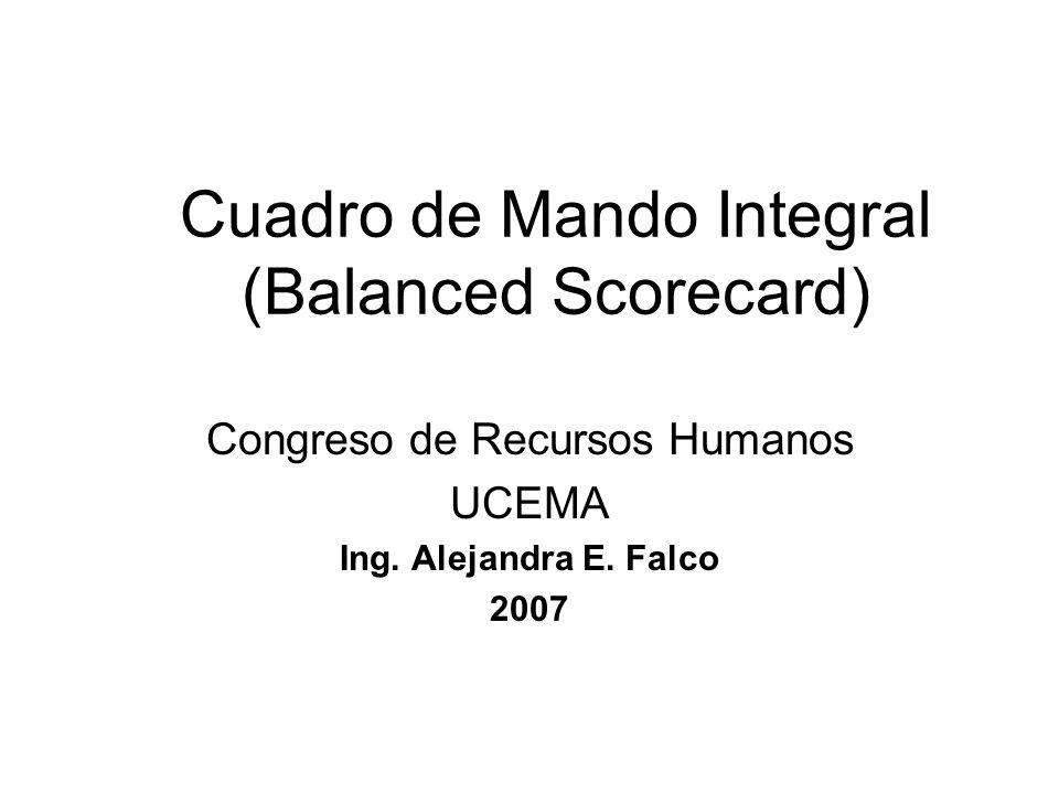 Cuadro de Mando Integral (Balanced Scorecard)