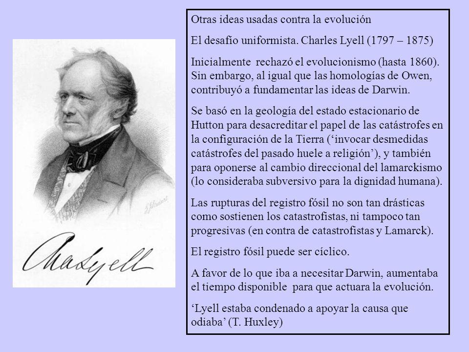 Otras ideas usadas contra la evolución