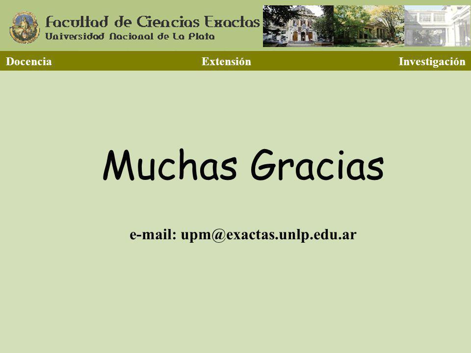 Docencia Extensión Investigación e-mail: upm@exactas.unlp.edu.ar