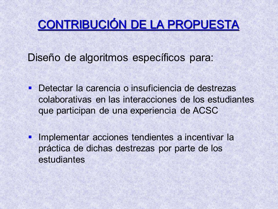 CONTRIBUCIÓN DE LA PROPUESTA