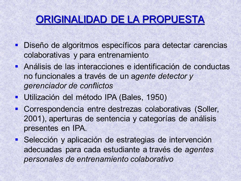 ORIGINALIDAD DE LA PROPUESTA
