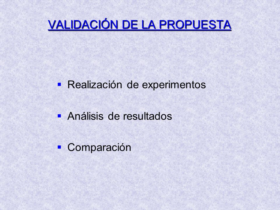 VALIDACIÓN DE LA PROPUESTA