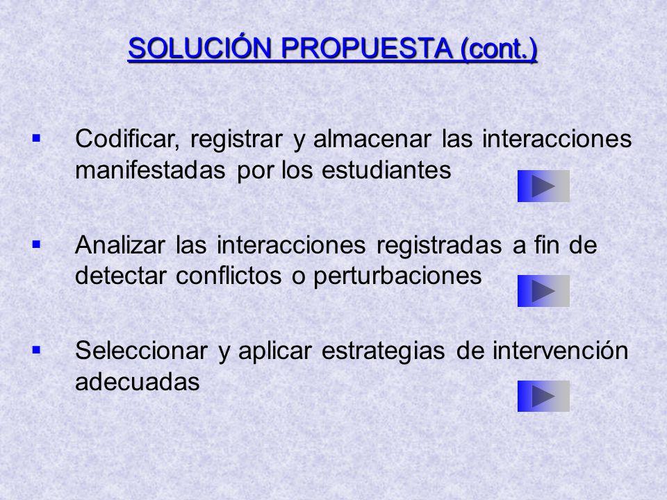 SOLUCIÓN PROPUESTA (cont.)