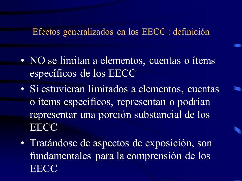 Efectos generalizados en los EECC : definición