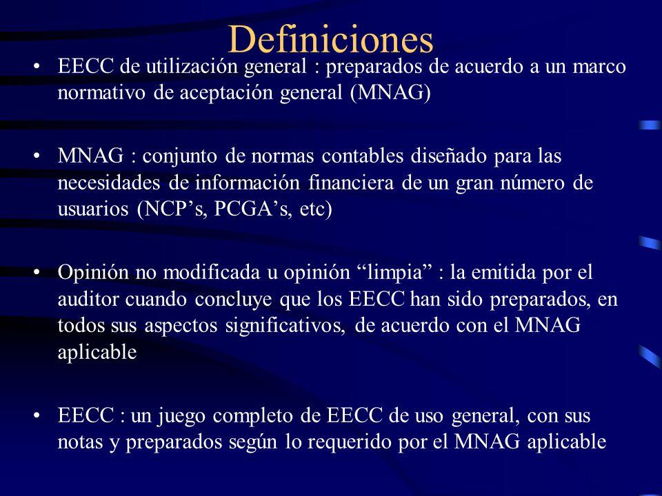 Definiciones EECC de utilización general : preparados de acuerdo a un marco normativo de aceptación general (MNAG)