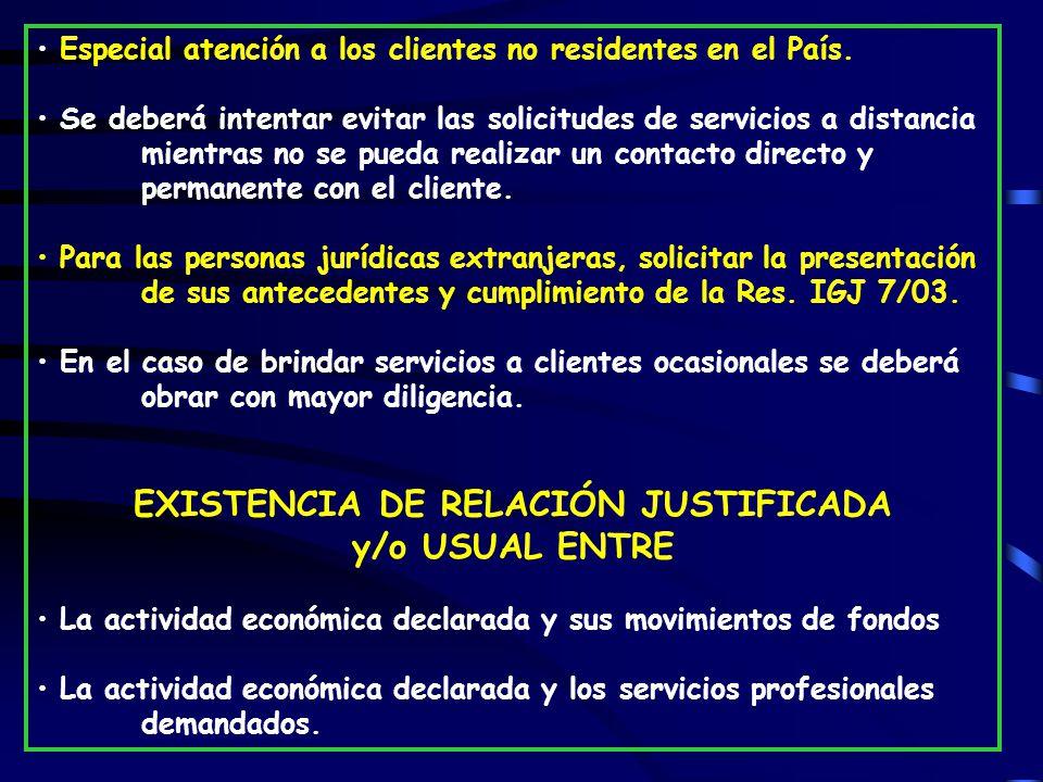 EXISTENCIA DE RELACIÓN JUSTIFICADA