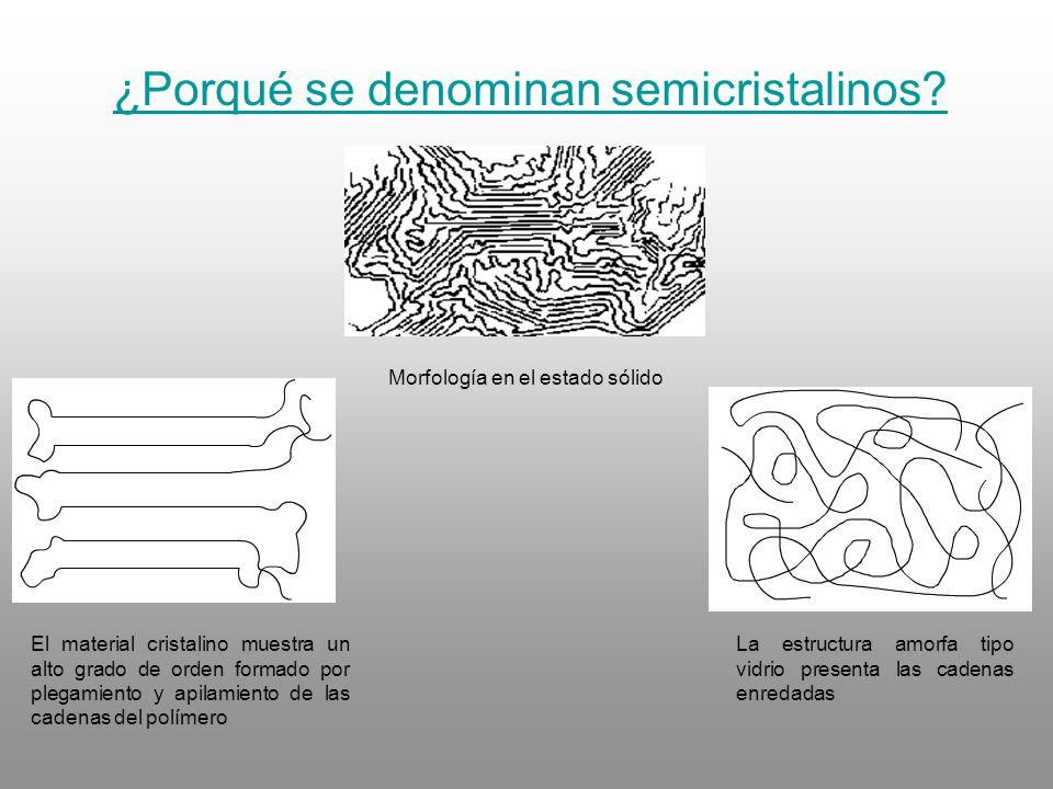 ¿Porqué se denominan semicristalinos