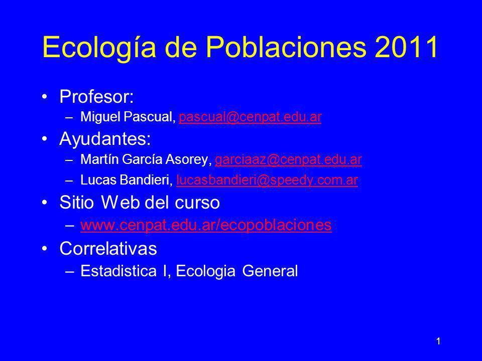 Ecología de Poblaciones 2011