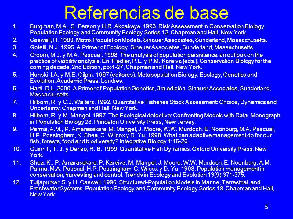 Referencias de base