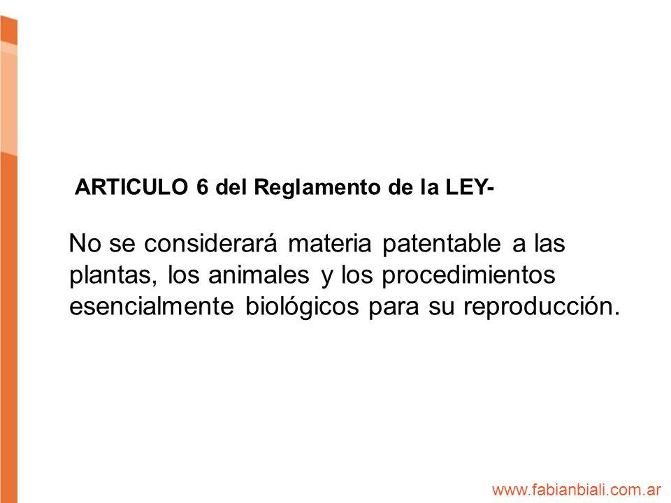 ARTICULO 6 del Reglamento de la LEY-