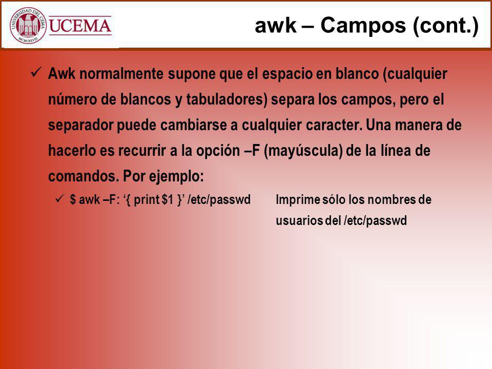 awk – Campos (cont.)