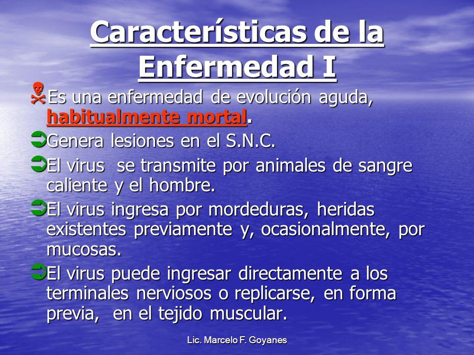 Características de la Enfermedad I